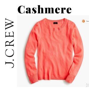 NWT J. Crew long-sleeve cashmere crewneck sweater